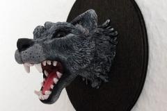 Trophae-Wolf-Kopf