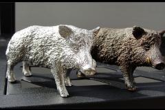 Zinn-Wildschwein-Keiler